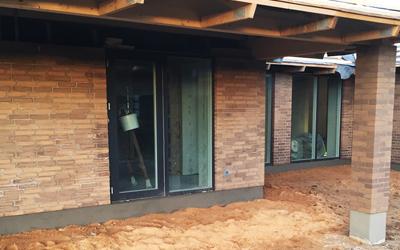 Murer arbejde ved nybyggeri af bolig